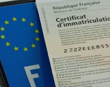 Certificat immatriculation VW