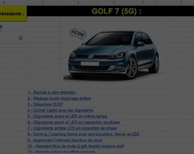 Coding VCDS VW Golf7