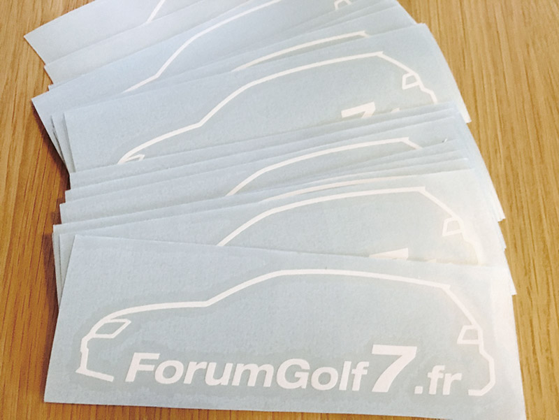 Les autocollants du forum sont disponibles !